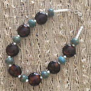 Jewelry - Stunning Glass and Ceramic Artisan Necklace